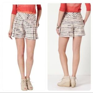 Anthropologie | Cartonnier Brindled Striped Shorts
